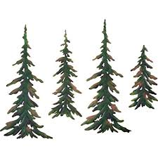 Amazon Evergreen Pine Tree Metal Wall Decor Set of 4 Home