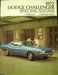dodge challenger canada dodge challenger and rallye specifications brochure canada original