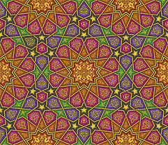 colorful arabesque ornament pattern stock vector image 73340645