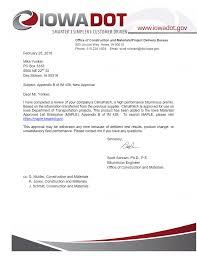 bureau d ot iowa dot approval letter climapatch