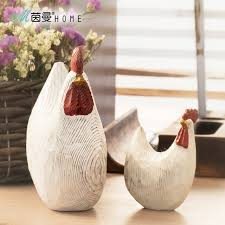 simple wood carving chicken home furnishings auspicious