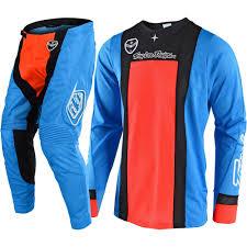 design jersey motocross new troy lee designs 2018 mx se air squadra cyan orange tld