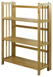 Bookshelf 3 Shelf 3 Shelf Folding Bookcase Contemporary Kids Bookcases By