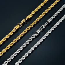 long necklace chain wholesale images Twist hip hop stainless steel long chain necklace men jewelry jpg