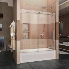 Shower Doors On Tub Dreamline Enigma X 56 In To 59 In X 62 In Frameless Sliding Tub