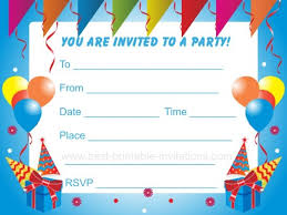 Invitation Cards For Birthday Party For Boys Birthday Decorations To Print Out Image Inspiration Of Cake And