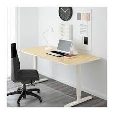 bureau debout assis bekant bureau assis debout plaqué bouleau blanc ikea