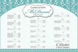 seating chart for wedding reception template template examples