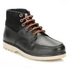 Penguin Mens Black Jailer Leather Boots Pen0249801 Tower London