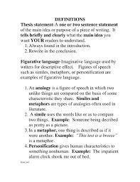 Extended Definition Essay Example Thesis Statement For Definition Essay The When Thesis Define