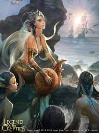 mermaid reg1280 by crow god on deviantart fantasy art
