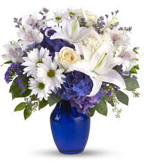 white and blue flowers fl flower delivery beautiful in blue al s florist