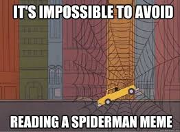 60s Spiderman Memes - it s impossible to avoid reading a spiderman meme 60s spiderman