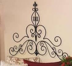Fleur De Lis Headboard 58 Tuscan Wrought Iron Wall Grille Headboard Topper Grill French