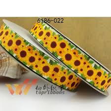 sunflower ribbon aliexpress buy ribbon freeshipping 7 8 ribbon 50 yard