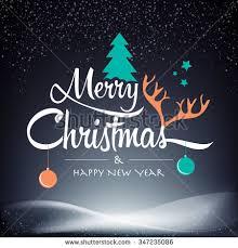 merry happy new year happy stock vector 347235086
