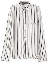 black and white striped blouse chicnova black white stripes sleeves blouse where to buy