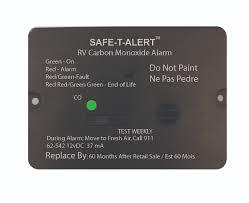 carbon monoxide detector flashing green light carbon monoxide alarms safe t alert rv dealer