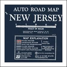 Vintage Chicago Map by New Jersey Map Map Of New Jersey Nj Blueprint Map Vintage Map
