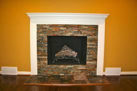 modern corner fireplace design with white cobblestone wood