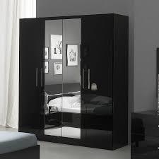 chambre a coucher adulte noir laqué armoire adulte design laquee blanche infinity portes blanc