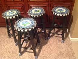 bar stool buy stools buy hand crafted custom painted round top bar stool blue