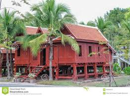 southern house thai wooden house thailand stock image image 49407813
