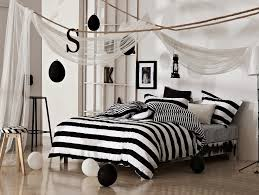 black and white classical stripe bedding set new arrival cotton comforter set duvet quilt cover bed sheet in bedding sets from home garden on