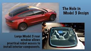 is a big hole in the roof the key to making the tesla model 3 gas 2