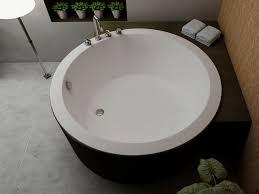Freestanding Bath Tub Freestanding Bathtub Round Solid Surface Bs S35 Bella