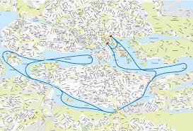 Lufthansa Route Map by Under The Bridges Of Stockholm Stromma Se