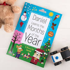 months of the year personalised children s books