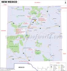 Mexico States Map by New Mexico Map Showing The Major Travel Attractions Including