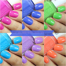 magically polished nail art blog essie too taboo neon