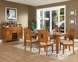 light cherry finish modern 5pc dining set w optional items