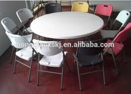 round plastic folding tables 6ft plastic folding round table banquet folding table big round
