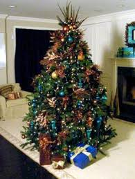 where can i find a brown christmas tree christmas tree decorating ideas turquoise blue bronze tulle
