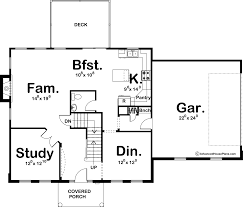 Colonial House Plans 2 Story Colonial House Plan Wallace