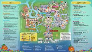 Disney Florida Map by Mickey U0027s Not So Scary Halloween Party Map 2017