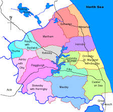 map uk villages the flegg villages east norfolk