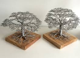 beautiful handmade wire tree sculptures art for the home wire