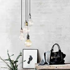 Chrome Pendant Light Fitting by Vintage Edison Bulb Copper Pendant Light Fitting Nordlux Avra