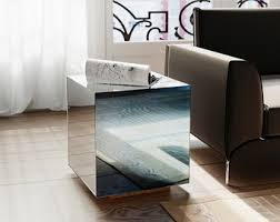 cube mirror side table mirrored nightstand antiqued mirrored side table by mirror
