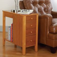 wood end tables with drawers appealing chair side end table with timber drawer knobs and wooden