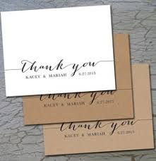 easy wedding thank you cards to show all of your favorite