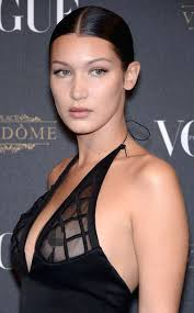 girls nipple rings images Bella hadid from celebrities with nipple piercings e news jpg