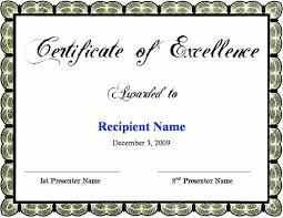 Free Certificate Of Excellence Template Certificate Of Excellence Template Certificate Templates