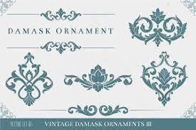 vintage damask ornaments ii illustrations creative market