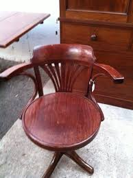 Wood Swivel Desk Chair by Antique Bentwood Swivel Office Chair Antiques Atlas