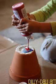 terracotta pots dilly dali art rainbow pour painted pots
